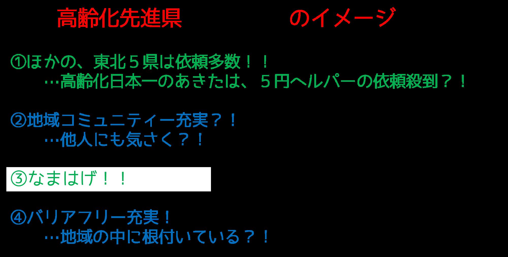 あきた介護イメージ日本一周moreWAKAFUKU5円ヘルパー