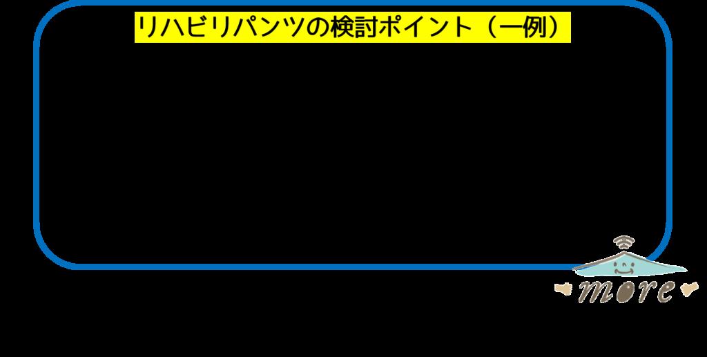 リハビリパンツ使い方ポイント対象高齢者秋田市デイサービス
